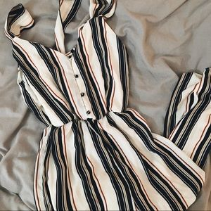 super cute striped jumpsuit